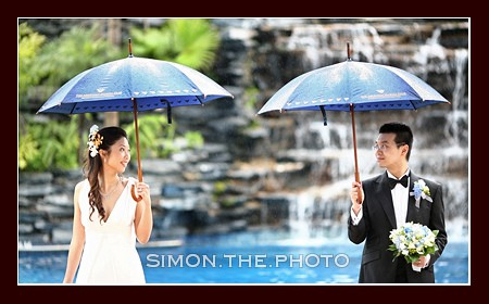 A wedding in rain</br>- angie and martin 4