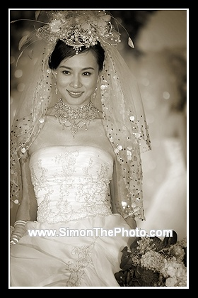Vanessa Yeung in wedding gown