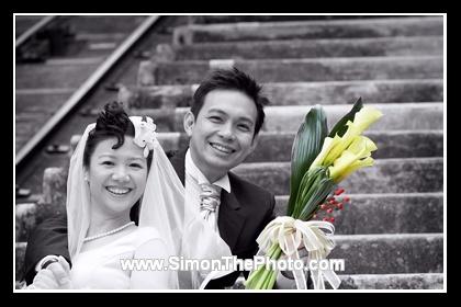 Wedding photos of Louisa and Nigel