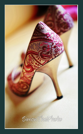 wedding shoes with amazing details
