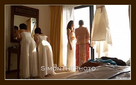 preparing for the ceremony